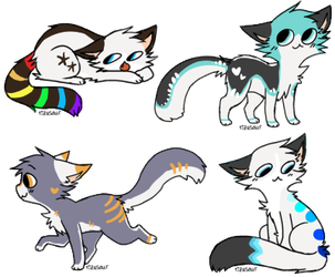 Cat Adoptables [1/4 OPEN] by AdoptablesForWorld