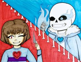 Do you wanna have a bad time? (Genocide route) by AlternianButterfly