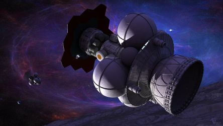 Nuclear Pulse ships in orbit by Drell-7