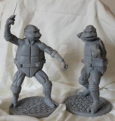 Teenage Mutant Ninja Turtles Raphael Resin Casts by Neighbourwithabeard