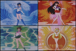 Individualized Senshi Backgrounds (1992 Anime) by Moon-Shadow-1985