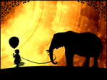 Elephant and Girl by Kelrisa