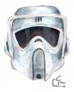 Scout Trooper -Quick Painting by HeroFromMars