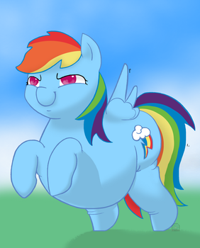 Good Luck With That, Dashie by Blastypone