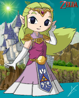 Princess Before The Wind Waker by AndsportsART