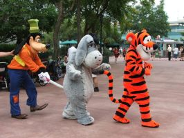 Goofy, Eyeore and Tigger by FallingWithoutYou