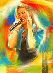 Live the music - Demi Lovato 6 by artistamroashry