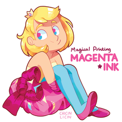 Magical Printing, Magenta Ink by chicinlicin