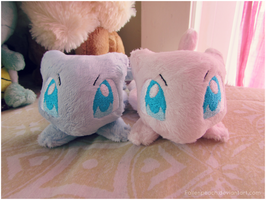 :: Mew Plushies by TheHarley!! :: by Fallenpeach