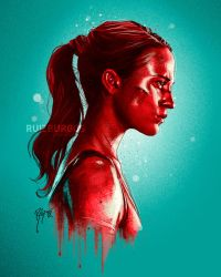 TOMB RAIDER portrait by RUIZBURGOS