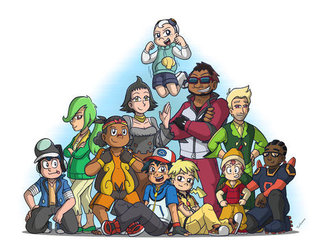 BW Ash's Team by ToonYoungster
