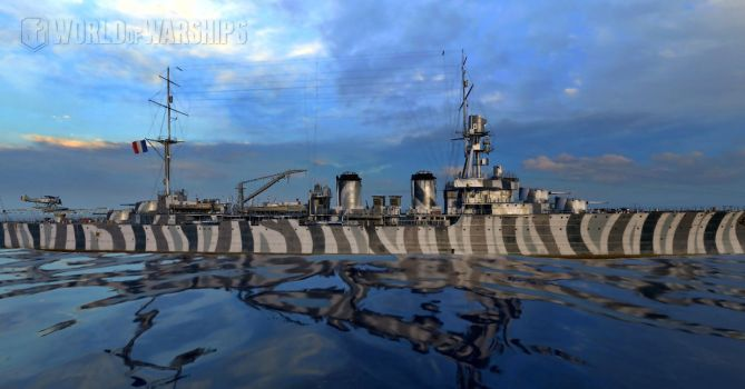 French Light Cruiser Duguay-Trouin by Sensthepunmistress