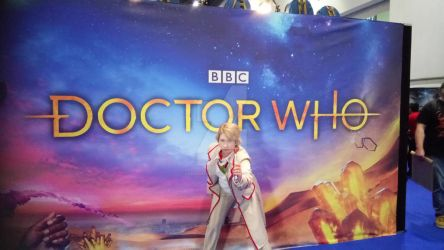 New Doctor Who Logo with Fifth Doctor by Londonexpofan