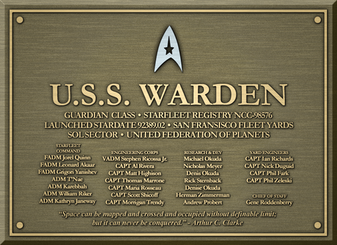 Dedication Plaque - U.S.S. Warden by Kant-Lavar