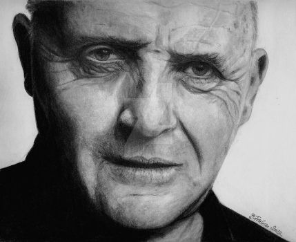 Sir Anthony Hopkins by Erika-Farkas