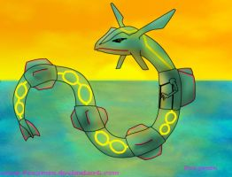Rayquaza's Sunset by Foxymon