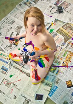 Mixed Media Nude-Film by pHotOPuNK82