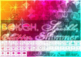 Bokeh, Sparkle, Glitter and Shimmer Brushes by Caithyra