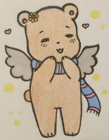Bear with wings (art trade with Domo-Bun)  by BearWithWings