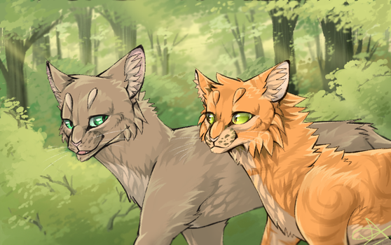 Thrushpelt and Rosetail by SsilverBeeze