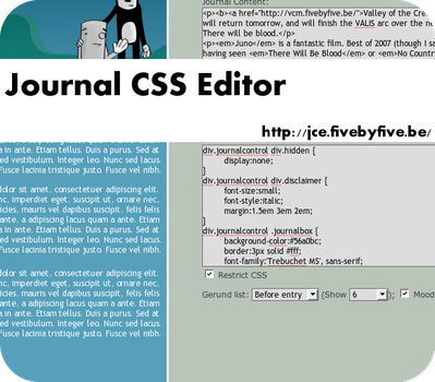 Journal CSS Editor 0.10 by xork
