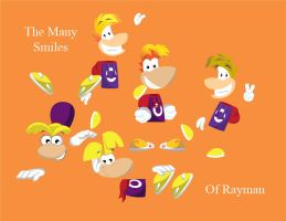 The Many Smiles Of Rayman by gemstonelover49