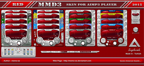 MMD3 Red Skin For Aimp3 Player by memo-se