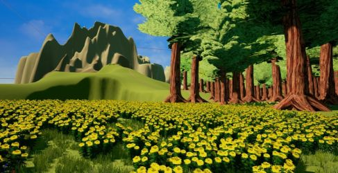 Flowers in the Forest by Pumpkin-Online