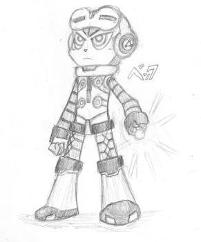 A better Mighty No. 9 sketch by ZachYahooXD