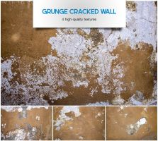 Grunge cracked wall by raduluchian