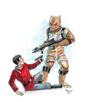 Spock Meets Bossk - boatwright by TheDeviantMakepeace