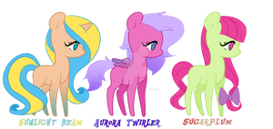 Adoptable Ponies (CLOSED) by GlimmerHeartBoo
