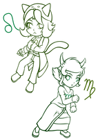 Have Some WIP Chibis by cycloneArchfiend