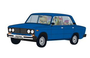 Allen Sparkle driving VAZ-21065 by DolphinFox