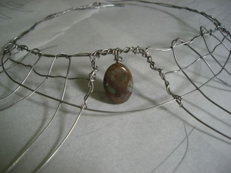 Necklace with jasper 2 by JFeathersmith