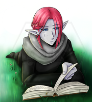 Reading Time - Elexior (YCH) by 96-Adopts