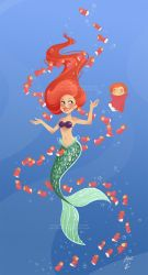 Ariel and Ponyo Under the Sea by AmberDust