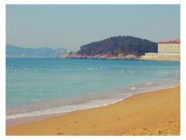 beach in Korea by sataikasia