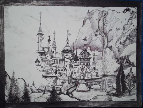 Canterlot Castle by lainwiththedevil