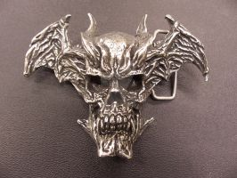 Devilman Skull belt buckle by Trapjaw