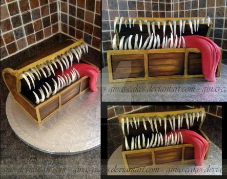 Mimic Chest Cake by ginas-cakes