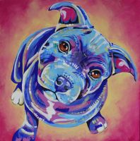 Staffy Pup by Eve-I