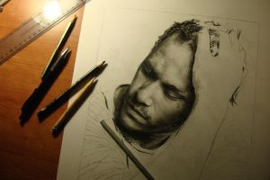 Heath Ledger -  WIP by DeniseEsposito
