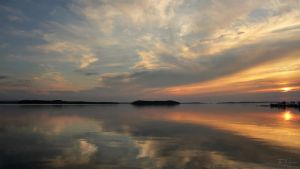 Waterscape Sunset by Pajunen