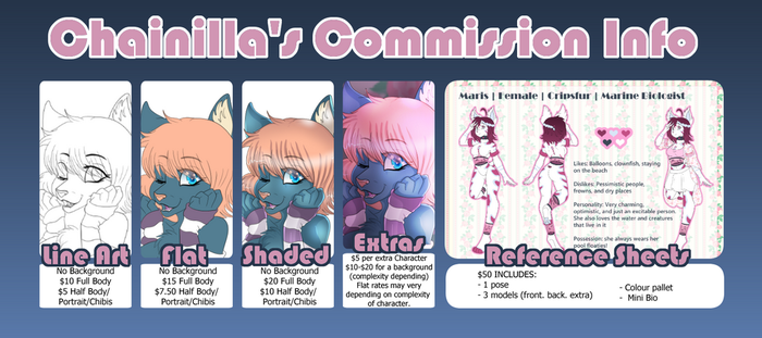 Commission Info 2018 by chainilla