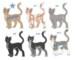 Adoptable Cats Litter 2 by funlakota