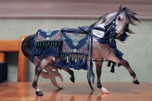 Blue Arabian Model Horse Costume by ChaosToGlory