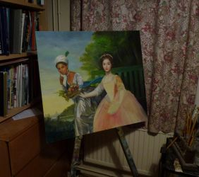Copy of Dido Belle and Lady Elizabeth Murray, wip by dashinvaine