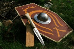 Celto-Germanic weapons by Dewfooter