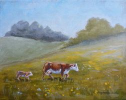 Pasture time by Maggielet